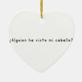 Espagnol-Cheval Ornement Cœur En Céramique