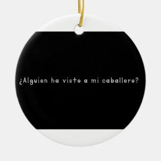 Espagnol-Chevalier Ornement Rond En Céramique