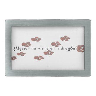 Espagnol-Dragon Boucles De Ceinture Rectangulaires