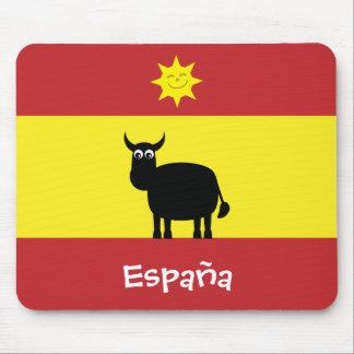 Espagnol drôle Taureau et drapeau de Sun España Tapis De Souris
