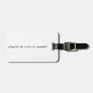 Espagnol-Épée Étiquette Pour Bagages
