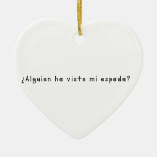 Espagnol-Épée Ornement Cœur En Céramique