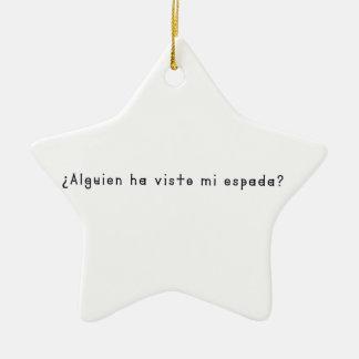 Espagnol-Épée Ornement Étoile En Céramique