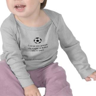 Espagnol : football du bebé y/bébé du football t-shirts