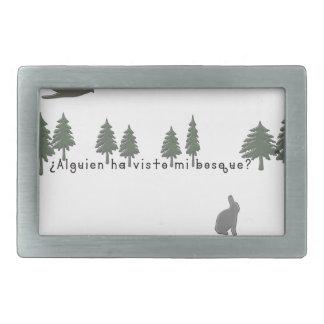 Espagnol-Forêt Boucle De Ceinture Rectangulaire