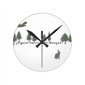 Espagnol-Forêt Horloge Ronde