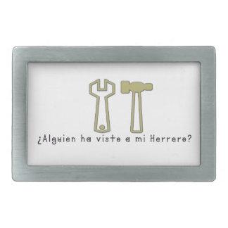 Espagnol-Forgeron Boucles De Ceinture Rectangulaires