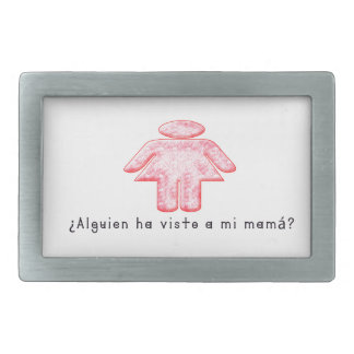 Espagnol-Mamans Boucle De Ceinture Rectangulaire