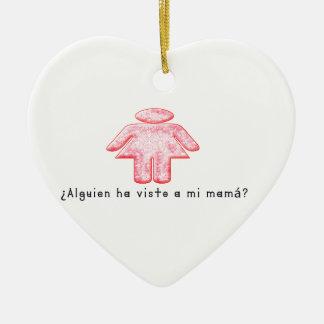 Espagnol-Mamans Ornement Cœur En Céramique