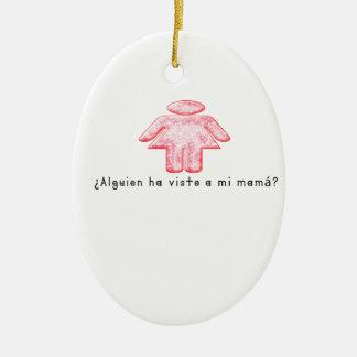 Espagnol-Mamans Ornement Ovale En Céramique