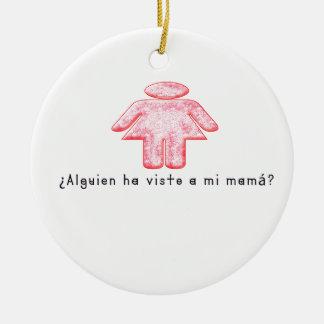 Espagnol-Mamans Ornement Rond En Céramique