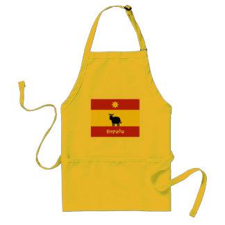 Espagnol mignon Taureau, Sun et drapeau Tabliers