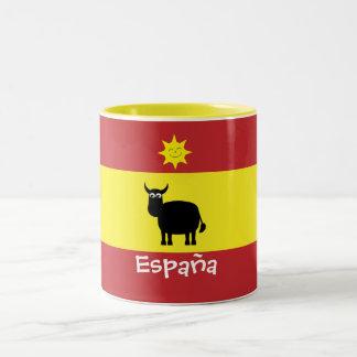 Espagnol mignon Taureau, Sun et drapeau Tasses