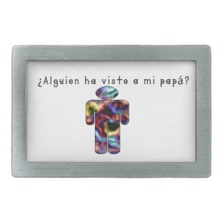 Espagnol-Papa Boucles De Ceinture Rectangulaires