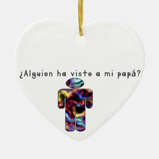 Espagnol-Papa Ornement Cœur En Céramique