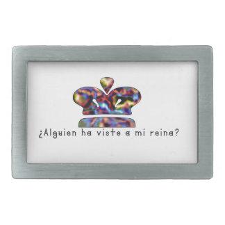 Espagnol-Reine Boucles De Ceinture Rectangulaires