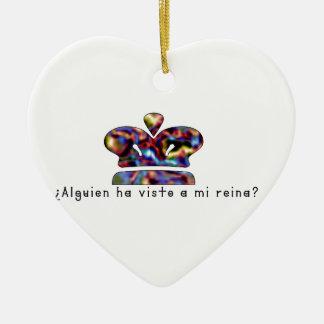 Espagnol-Reine Ornement Cœur En Céramique