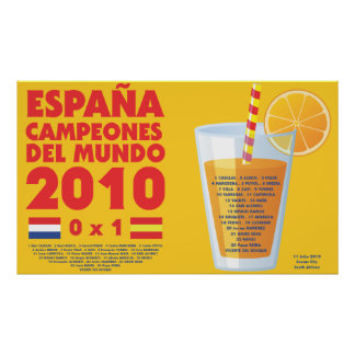 España 2010 World Champions Futbol Affiches