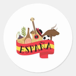 Espana Sticker Rond