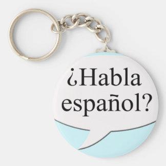 Español de Habla de ¿ ? Parlez-vous espagnol ? Porte-clé Rond