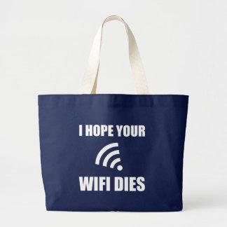 Espérez vos matrices de Wifi Grand Tote Bag