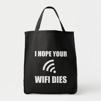 Espérez vos matrices de Wifi Tote Bag