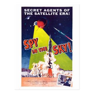 Espion dans la carte postale de ciel