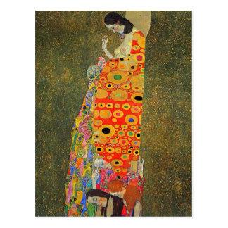 Espoir abandonné par Klimt de Gustav Carte Postale