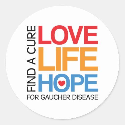 Espoir de la vie d'amour - maladie de Gaucher de Sticker Rond