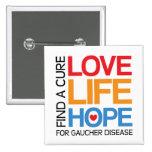 Espoir de la vie d'amour - maladie de Gaucher de t Pin's Avec Agrafe