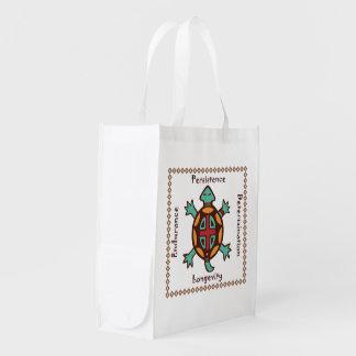 Esprit animal de tortue sac réutilisable