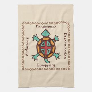 Esprit animal de tortue serviettes pour les mains