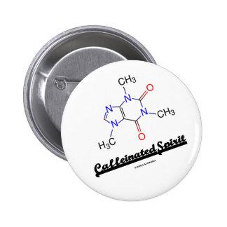 Esprit caféiné (molécule chimique de caféine) badge