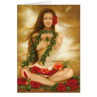Esprit de Aloha par le bon artiste Lori Higgins. Carte De Vœux