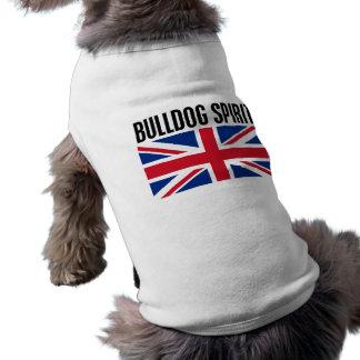 Esprit de bouledogue t-shirt pour chien