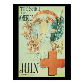 Esprit de la deuxième guerre mondiale de carte postale
