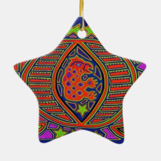 Esprit de tortue de chaman ornement étoile en céramique