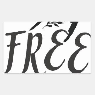 esprit libre avec le joli oiseau d'hirondelle sticker rectangulaire