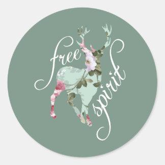 Esprit libre sticker rond