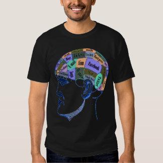 Esprit social de mise en réseau t-shirt