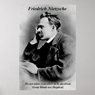 Esprits de Friedrich Nietzsche d'affiches de philo Posters