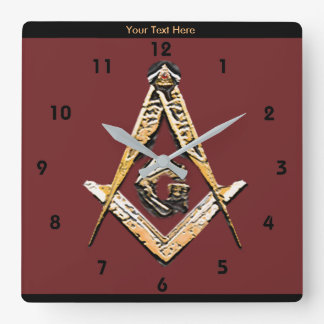 Esprits maçonniques (jaunâtres) horloge carrée