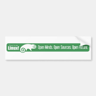 Esprits ouverts, sources ouvertes, avenir ouvert - autocollant pour voiture