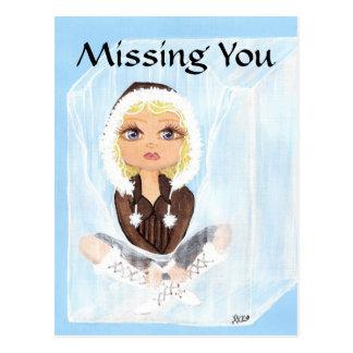Esquimau en glace Quantum Cutie vous manquant Carte Postale