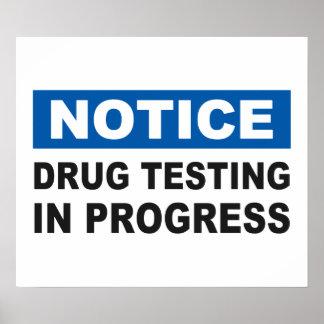 Essai de drogue en cours affiche