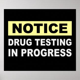 Essai de drogue en cours
