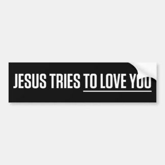 Essais de Jésus pour vous aimer Autocollant De Voiture