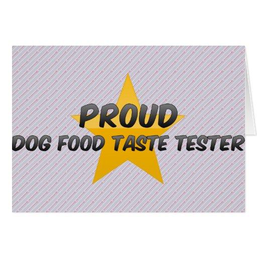Essayeur fier de goût d'aliments pour chiens cartes de vœux