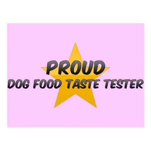 Essayeur fier de goût d'aliments pour chiens carte postale