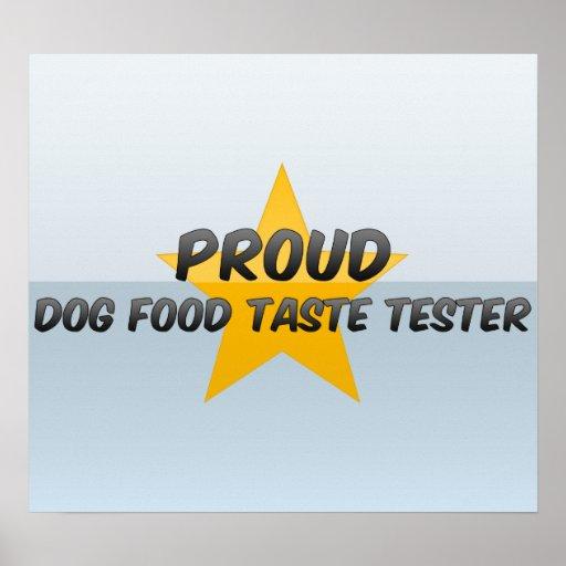 Essayeur fier de goût d'aliments pour chiens posters